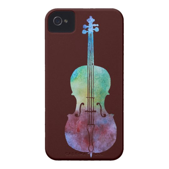 Colorwashed Cello iPhone 4 Case-Mate Case