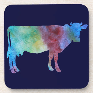Colorwashed Cow Drink Coasters