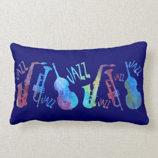 Colorwashed Double Jazz Trio Throw Pillow