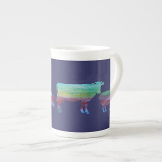 Colorwashed Farmyard Parade Tea Cup