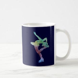 Colorwashed Figure Skater Classic White Coffee Mug