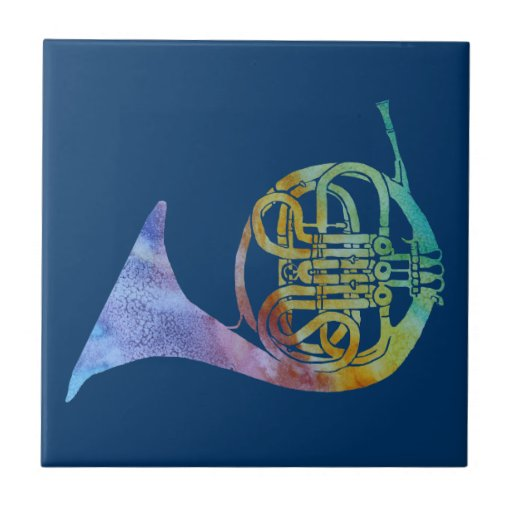 Colorwashed French Horn Ceramic Tile