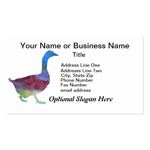 Colorwashed Geese Double-Sided Standard Business Cards (Pack Of 100)