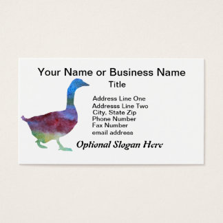 Colorwashed Geese Business Card