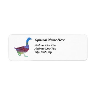 Colorwashed Geese Label