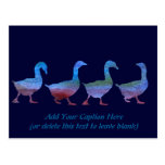 Colorwashed Geese Postcard