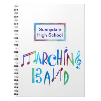 Colorwashed Marching Band Spiral Notebook