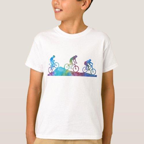 Colorwashed Mountain Bikers T_Shirt