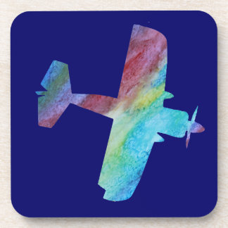 Colorwashed Prop Plane. Coasters