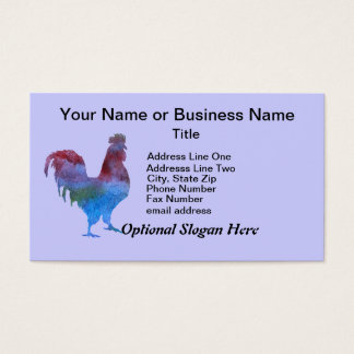 Colorwashed Rooster Business Card