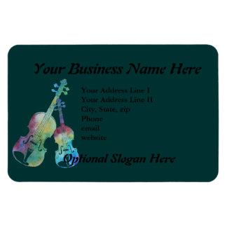 Colorwashed Violin and Viola Rectangular Photo Magnet