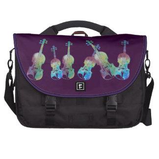Colorwashed Violins Computer Bag