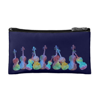 Colorwashed Violins Cosmetics Bags