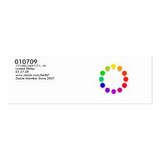 colorwheel, 010709, <i>san jose</i>, ca, United... Mini Business Card