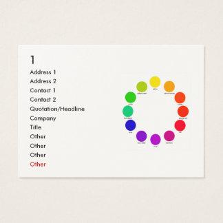 colorwheel, 1, dirección 1, dirección 2, contacto tarjetas de visita grandes