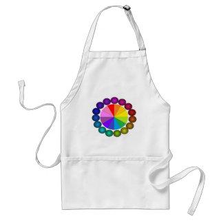 Colorwheel Apron Teaching Art Party Workshop 12 Standard Apron
