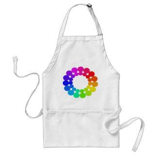 Colorwheel Apron Teaching Art Party Workshop 6 Standard Apron