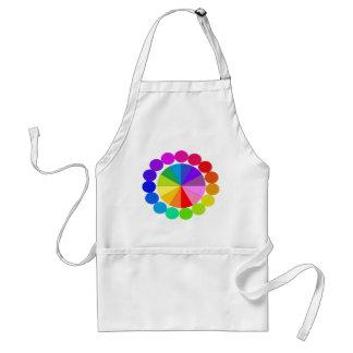 Colorwheel Apron Teaching Art Party Workshop 8 Standard Apron