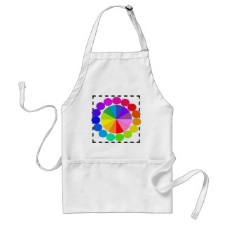 Colorwheel Apron Teaching Art Party Workshop 9 Standard Apron