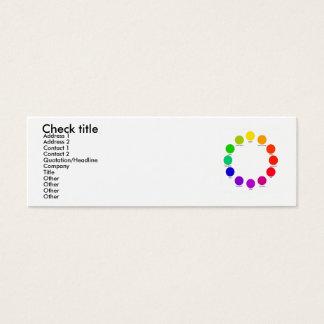 colorwheel, Check title, Address 1, Address 2, ... Mini Business Card