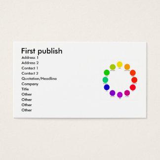 colorwheel, First publish, Address 1, Address 2... Business Card