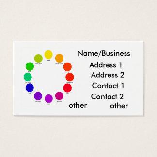 colorwheel, Name/Business, Address 1, Address 2... Business Card