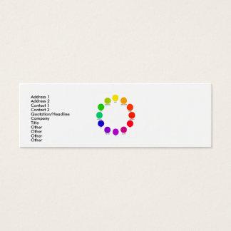 colorwheel, niki, Check title, Address 1, Addre... Mini Business Card