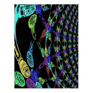 Colorwheel of Microphones (Infinity Pattern) Postcards