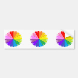Colorwheel Rainbow Gifts Bumper Sticker