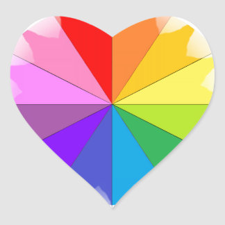 Colorwheel Rainbow Gifts Heart Sticker
