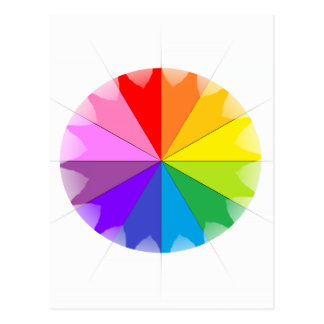 Colorwheel Rainbow Gifts Postcard