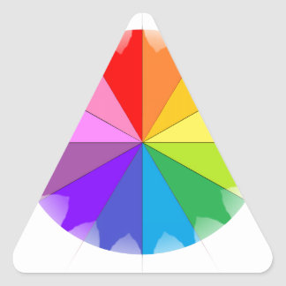 Colorwheel Rainbow Gifts Triangle Sticker