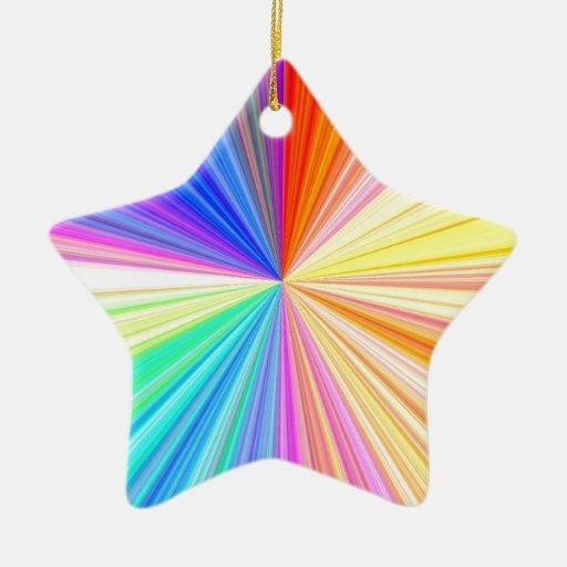 ColorWheel Sparkle - Enjoy n Share Joy Double-Sided Star Ceramic Christmas Ornament