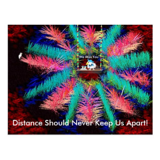colorwheelpostcard, Distance Should Never Keep ... Postcard
