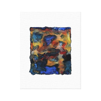 """Colorz ~ Wrapped Canvas 1.5"""" Abstract Modern Retro"""