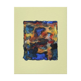 Colorz ~ Wrapped Canvas Abstract Modern Retro Art