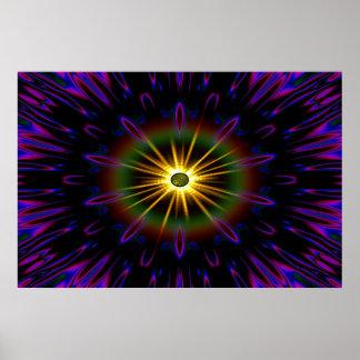 Colosal de Sun de medianoche reparado Póster