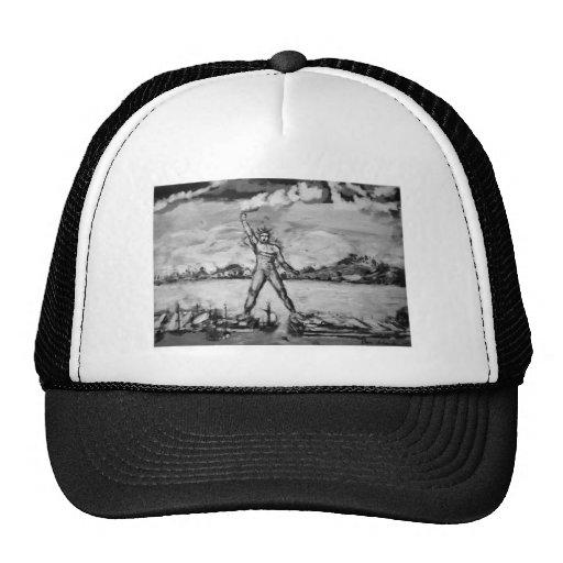 Coloso de Rodas blanco y negro Gorras De Camionero
