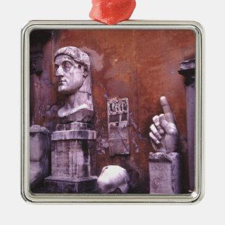 Coloso esculpido de las partes del cuerpo de adorno navideño cuadrado de metal