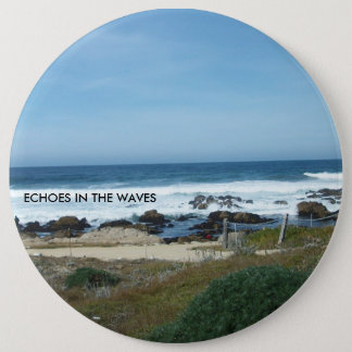 """Colossal 6"""" round button with title"""