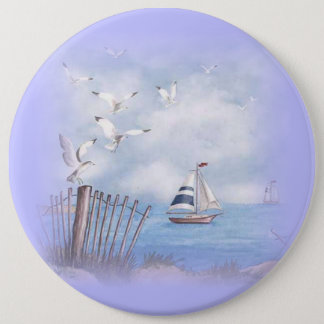 COLOSSAL Beach Scene, 6 inch Backpack Pins buttons