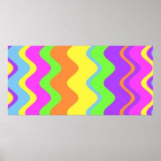 Colossal Canvas Stripes Print