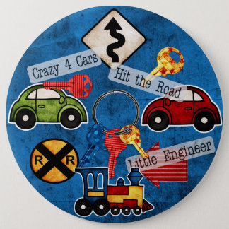 COLOSSAL Cars and Signs, 6 inch Pins buttons