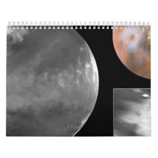 Colossal Cyclone Swirls near Martian North Pole Calendar