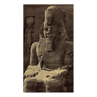 Colossal Figure, Abu Sunbul, Egypt circa 1856 Double-Sided Standard Business Cards (Pack Of 100)