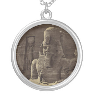 Colossal Figure, Abu Sunbul, Egypt circa 1856 Silver Plated Necklace