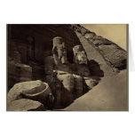 Colossal Figures, Abu Sunbul, Egypt Card