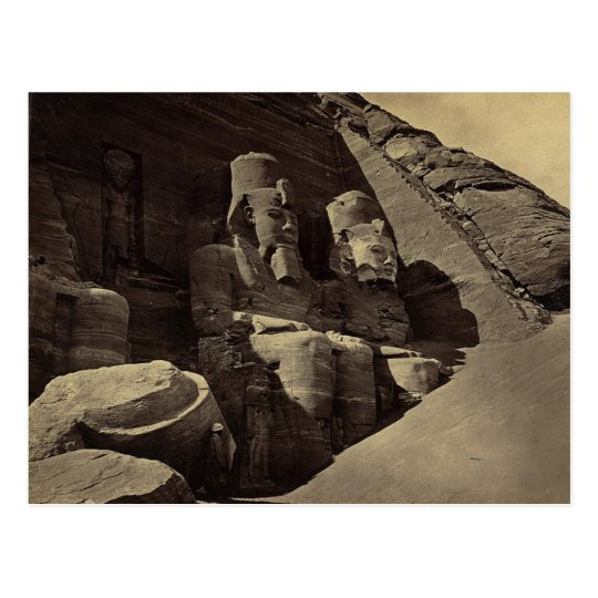 Colossal Figures, Abu Sunbul, Egypt Postcard