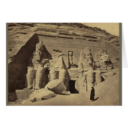Colossal Figures, the Great Temple at Abu Sunbul Card