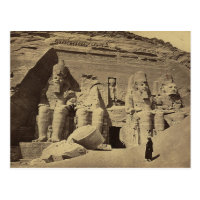 Colossal Figures, the Great Temple at Abu Sunbul Postcard